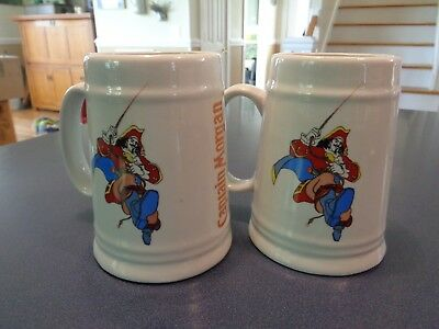 Vtg Captain Morgan Pirate Rum ~One Pint~Tankard Drinking Mug Stein ~ 2 Available