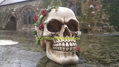 New Design Rubber Latex Mould Moulds Mold To Make Medium Gothic Skull With Roses