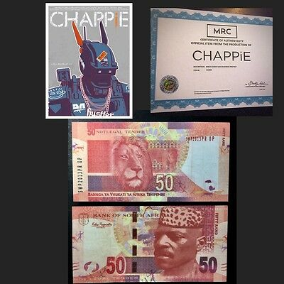 CHAPPiE '50' Screen Used Movie Prop w/ COA (one 50 rand only)