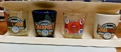 Ncaa Uconn Huskies Basketball 2002 Champs Set Of 4 Shot Glass New Box Has Damage