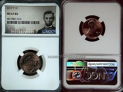 2017 P Lincoln SHIELD Cent 1c NGC MS 67 RD Lincoln Label