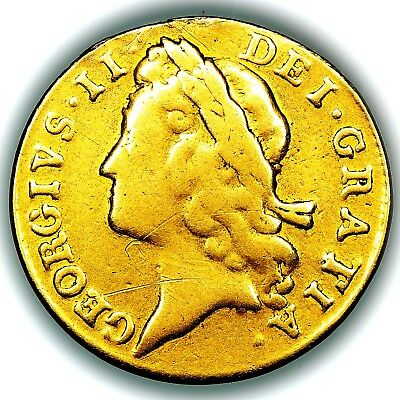 1733 King George II Great Britain Gold Guinea Coin