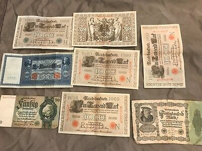 8 Pc. Jumbo Size Ww1 Inflationary Paper Money From Estate!!!!!!..starts @ 2.99