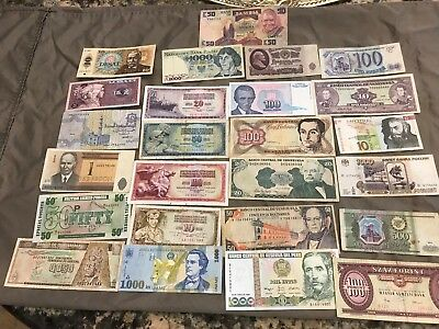25 Pc. World Paper Money Collection From Estate!!!!!!..starts @ 2.99