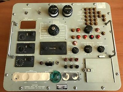 Units Tester Panel für TACAN Instrumente , Tactical Navigation,1963,Nato,selten