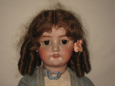 "Antique 26"" C.M. Bergmann / Simon & Halbig Bisque Socket Head Doll MB6"