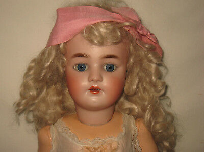"Antique 22"" Heinrich Handwerck / Simon & Halbig Bisque Socket Head Doll MB7"