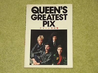 QUEEN Greatest Pix - RARE 1981 JAPAN FIRST EDITION BOOK COMPLETE WITH DUST COVER