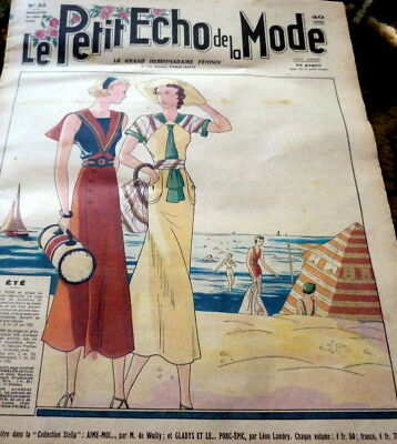 *VTG 1930s PARIS FASHION & SEWING PATTERN CATALOG LE PETIT ECHO de la MODE 1936