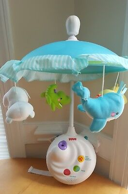 FISHER PRICE Baby PRECIOUS PLANET 2 IN 1 PROJECTION MOBILE / Musical Crib Toy