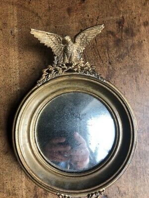Antique Mini Eagle Mirror Convex