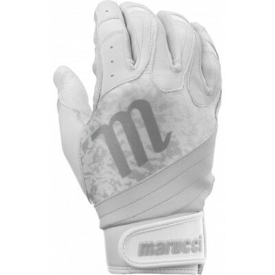 Marucci Pure Adult Fastpitch Softball Batting Gloves MSBBGP White