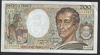 200 Francs From France 1982 XF B1