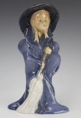 Retired Bing & Grondahl Danish Halloween Witch Girl Porcelain Figurine 2549 GLP