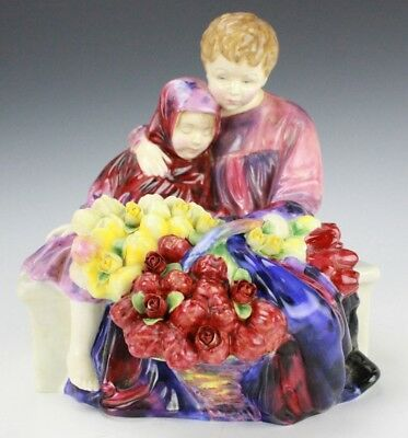 Royal Doulton English Bone China FLOWER SELLERS CHILDREN Porcelain Figurine GLP