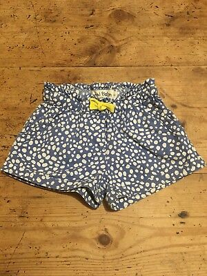 Mini Boden Girl's Blue & White Spotty Spotted Shorts Age 3