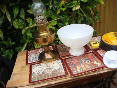 ALADDIN No. 23 Vintage Brass & Glass Oil Paraffin Lamp With  Shade Untested