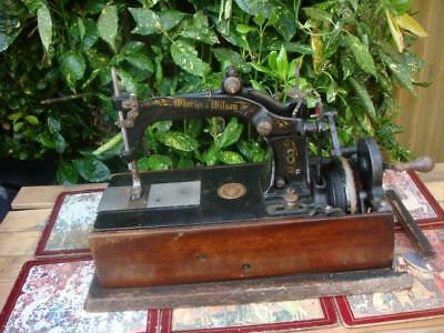 Antique Old Vintage hand Crank Sewing Machine Wheeler & Wilson c.1880 For Part