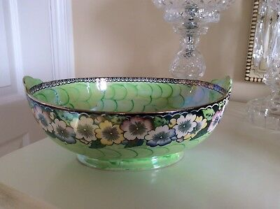 Maling Art Deco Bowl Clematis With Green Thumb Print .