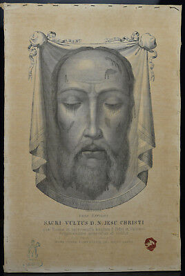 Antique original ICON HOLY FACE MANDYLION Veil of Veronica Sudarium 19th Century