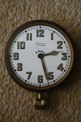 Goliath Watch 8 Days Mappin old brass clock desk travel Brevet 33236 Swiss Made