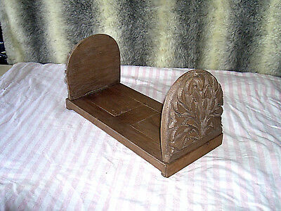 Vintage Antique Hand Carved Black Forest Wooden Extending Folding Bookends/stand