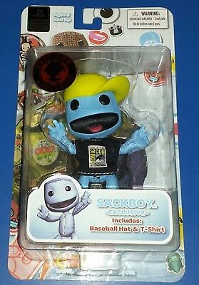 Mezco SDCC Comic Con Exclusive Sackboy Blue Little Big Planet Playstation Denim