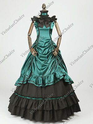 Southern Belle Old West Christmas Holiday Ball Gown Dress Steampunk Clothing 135