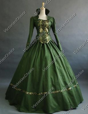 Victorian Gothic Game of Thrones Fantasy Gown Dress Halloween Costume N 111