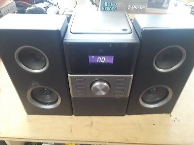Home Stereo System Wall Mount CD Player Shelf Audio Speakers Compact AM//FM Radio