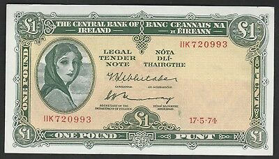 1 Pound From Ireland 1974 Unc B1