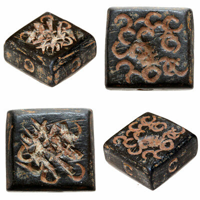 INTACT BYZANTINE BRONZE SQUARE DECORATED WEIGHT 14.93 grams