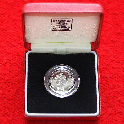1986 United Kingdom .925 Silver Proof Piedfort One Pound Coin Rare Issue