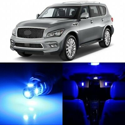 15 x Ultra Blue Interior LED Lights Package For 2014 - 2018 Infiniti QX80 +TOOL