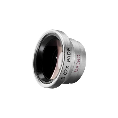 Walimex 18664 18664 Silver mobile phone lens Macro and Wide Angle Lens for