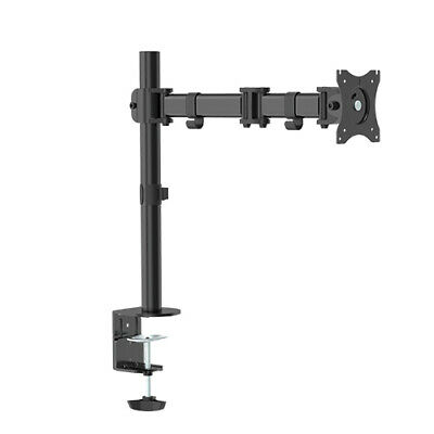 "Single Desk Mount Computer Monitor Stand 13-17"", Tilt & Swivel"