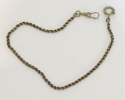 Vintage Pocket Watch Solid Silver Chain 288mm Watchmakers Watch Parts