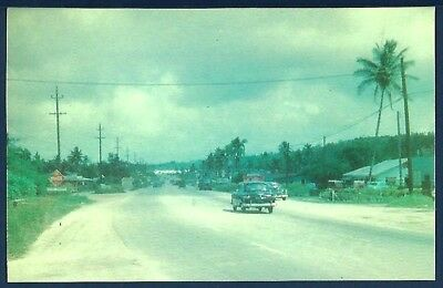 Marine Drive Guam at Tamuning Circa Early 1950s Postcard