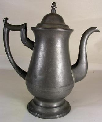 Large Antique Pewter Coffee Pot Marked Boardman & Co.New York W Eagle Mark