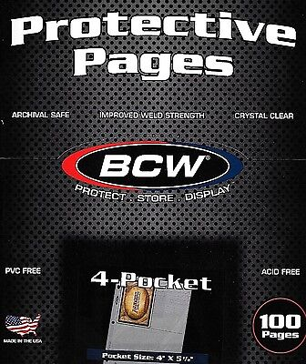 25 NEUF 4 Pocket pages plus 100 3.5 x 5 CARTE toploaders pro4t