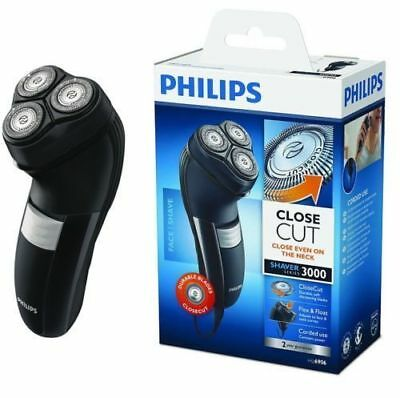Philips Mens Corded Electric Shaver Dry Face Shave Shaving Beard Razor Grooming