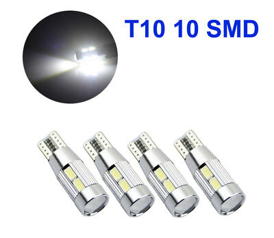 4x T10 10 SMD 5630 CREE LED Canbus Standlicht Weiß Beleuchtung 12V HK Post
