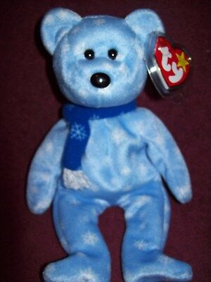 Ty Beanie Babies HOLIDAY TEDDY BEAR - 1999 Excellent Pre-Owned Condition w/Tag