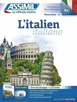 Assimil L'Italian (Italian for French speakers) (French Edition) New Audio CD Bo