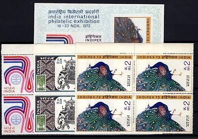 P71844/ Inde / India / Blocks / Mi # 580A / 582A + Block 1 Mnh Complete