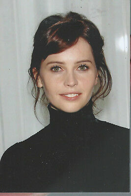 "A  97 Felicity Jones  6""x 4"" Mint Photo"