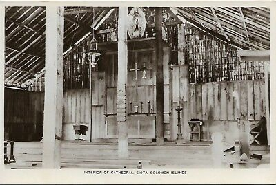 Solomon Islands Siota Cathedral mint postcard