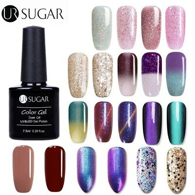 UR SUGAR UV Gel Nail Polish Chameleon Magnetic Sequined Soak Off Varnish Decor