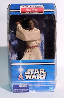 ESZ439. STAR WARS Attack of the Clones Character Collectible MACE WINDU 2002 >