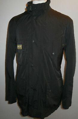 Barbour Featherweight International Jacket Black Country Field Coat Mens Large